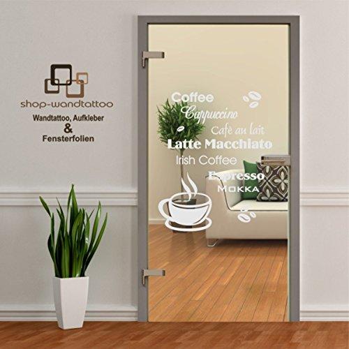 rs-interhandel® Glastür Aufkleber Tattoo Folie Glasdekor Fensterfolie Sichtschutz Wohnzimmer, Küche oder für alle Glasflächen Sichtschutzfolie für Türen GDT544