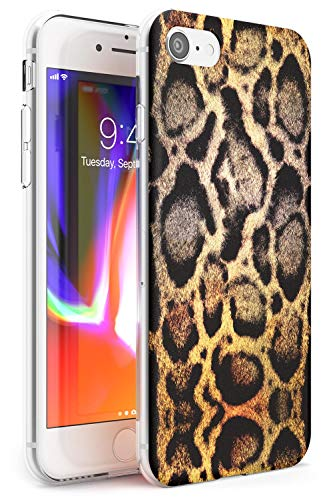 Hülle Warehouse Tierpelz-Muster - Ocelot Slim Hülle kompatibel mit iPhone 7 Plus TPU Schutz Light Phone Tasche mit Katze Spots Wild Natur Luxus