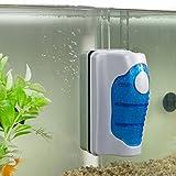 Cebbay Brosse magnétique Aquarium Grattoir à algues Outil de nettoyage flottant (S, M, L)