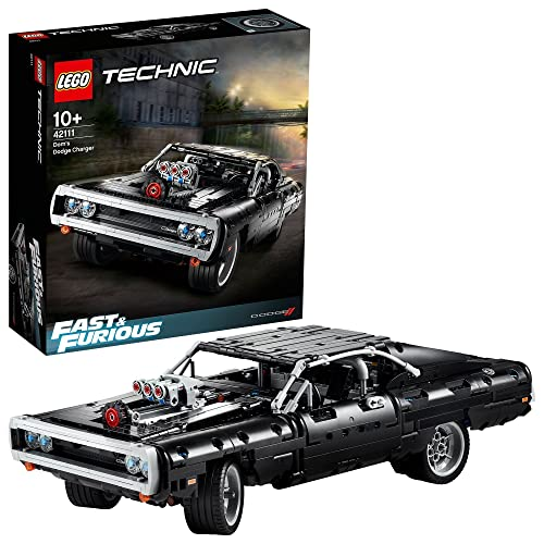 LEGO 42111 Technic Fast & Furious Dom's Dodge Charger Racing Car Model Iconic Collector's Building Set