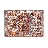 Fancytan Tapis Traditionnel Oriental Vintage Look, Rouge, pour Salon, Chambre, Facile à Nettoyer, 120x160cm