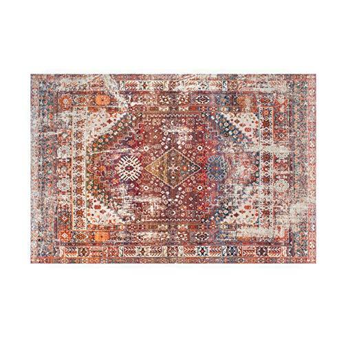 Fancytan Alfombra Tradicional Vintage Oriental Clásica, para Salón o Dormitorio, Facil de Limpiar, Rojo, 120 x 160 cm