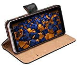 mumbi Echt Leder Bookstyle Case kompatibel mit Samsung