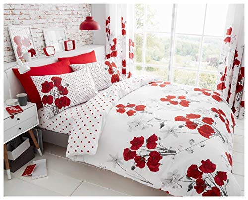 GoldStar Ellie Red King Size Duvet Cover Bedding Set