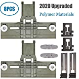 Upgraded 8 Packs Polymer Material W10350375 Dishwasher Top Rack Adjuster & W10195840 Dishwasher Positioner &...