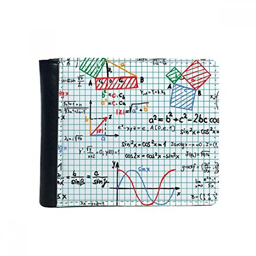 DIYthinker trigonometrische formule Science Calculus Figura Flip Bifold Faux Leather Wallet Gift Multifunctionele tas