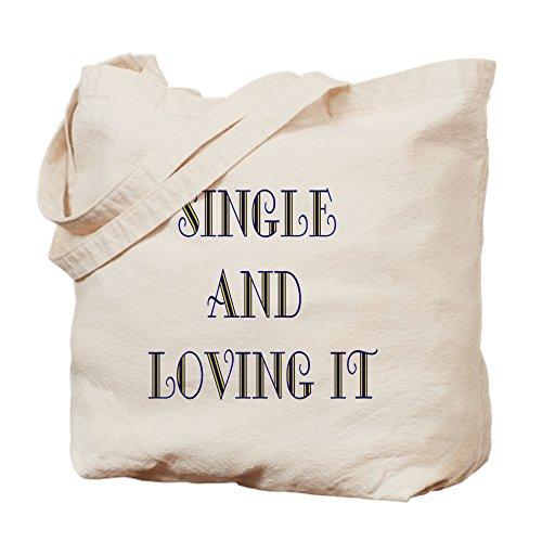 CafePress Single and Loving It Tragetasche, canvas, khaki, M