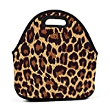 Lunch Bag leopard print Lunch Box Tote Container Bag Insulated Neoprene for Women Thermal Outdoor...