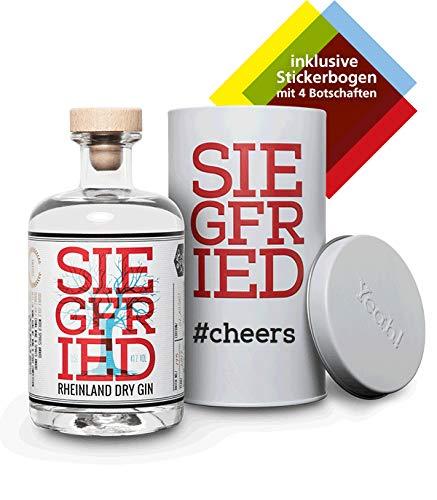 Siegfried Rheinland Dry Gin in Geschenkverpackung I Weltweit ausgezeichneter Premium Gin I Micro-batch Gin mit 18 Botanicals I Regionalität und Weltklasse I 41% 500ML