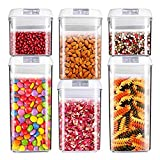 Air-Tight Food Storage Container Set [6-Piece Set] - Pantry Durable Seal Pot - Cereal Storage Containers - for Dry Foods & Liquids - BPA Free