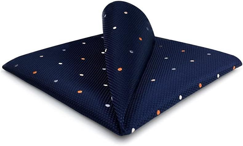 SLATIOM Mens Pocket Square Wedding Silk Handkerchief Party Hanky Classic Fashion (Color : B, Size : 32x32CM)