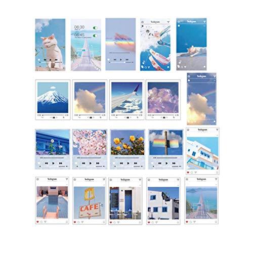 QEWRT 40pcs/pack Po Sky PVC Stickers Package Diary Journal Decoration Label Sticker Album Scrapbooking,B