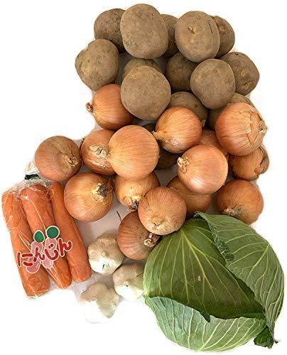 野菜セット ジャガイモ1kg 玉ねぎ 2kg にんじん3本 キャベツ大1個 にんにくLサイズ2個【合計約5kg 野菜組み合わせ】