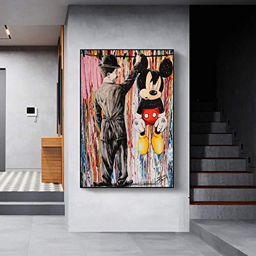 Malen Nach Zahlen Für Erwachsene Frameless Banksy Street Graffiti Collage Monkeyliving Room Nordische Wohnkultur-60 * 80cm