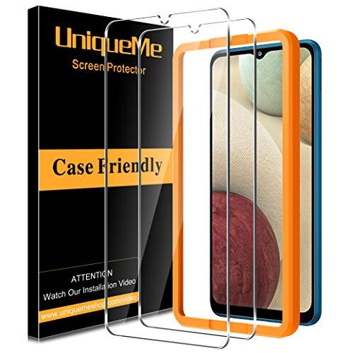 [2Pack] UniqueMe Schutzfolie für Samsung Galaxy a12/a32 5G Panzerglas,Folie für Samsung Galaxy a12/a32 5G Panzerglasfolie,[Blasenfrei] Bildschirmfolie Schutzglas Gehärtetes Glas