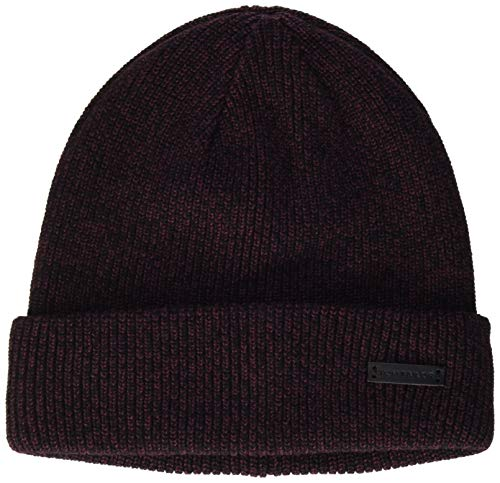 TOM TAILOR Herren Mouliné Beanie-Mütze, 24223-Dusty Pink Black Moulin, OneSize