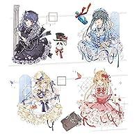 misaki マスキングテープ 特殊インク かわいい 少女 少年 マステ シール 極大 透明PET テープ 広幅 (漫画少女)