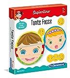 Clementoni - 11957 - Sapientino - Tante facce, tessere illustrate - puzzle incastro bambini, gioco educativo 2 anni per imparare emozioni - Made in Italy
