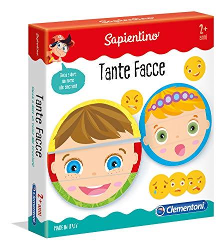 Clementoni- Tante Facce Gioco educativo, Multicolore, 11957