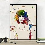 Nacnic Jim Morrison Aquarell Poster. Wasserfarbe Stil