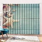 CLZHAO Blickdicht Gardinen-Wärmeisolierend Vorhang Schlafzimmer Vorhänge, Verdunkelung Thermo Gardinen Ösenvorhang, Muschel,160x160 cm (WxL)