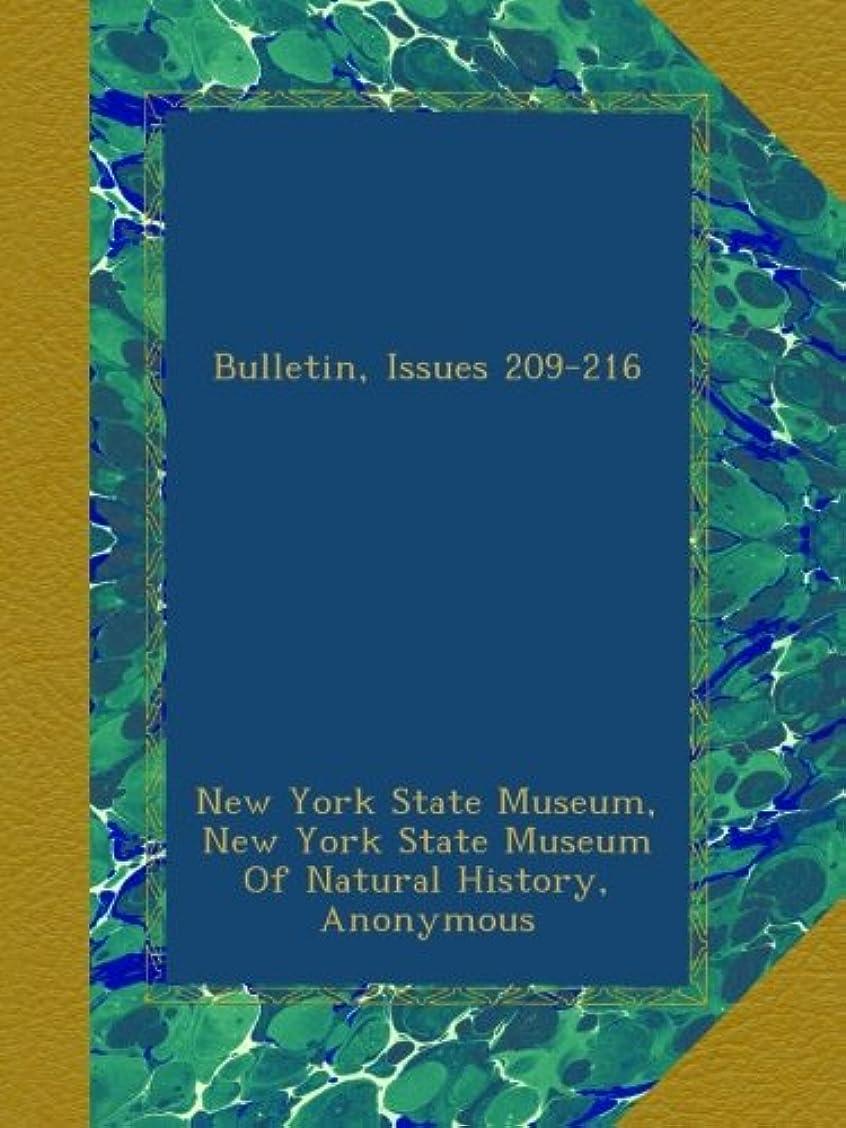 イブニング。立証するBulletin, Issues 209-216