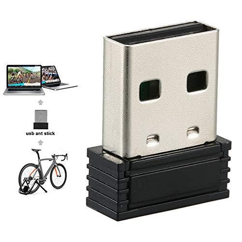 LUCKFY ANT + USB-Dongle Speed Sensor Wireless Receiver Minigröße USB Stick Adapter für Bike Trainer Ständer,A
