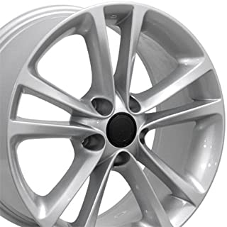 OE Wheels 17 Inch Fits Volkswagen GTI Jetta EOS CC Tiguan Rabbit Passat Golf Beetle VW CC Style VW19 Painted Silver 17x8 Rim Hollander 69888