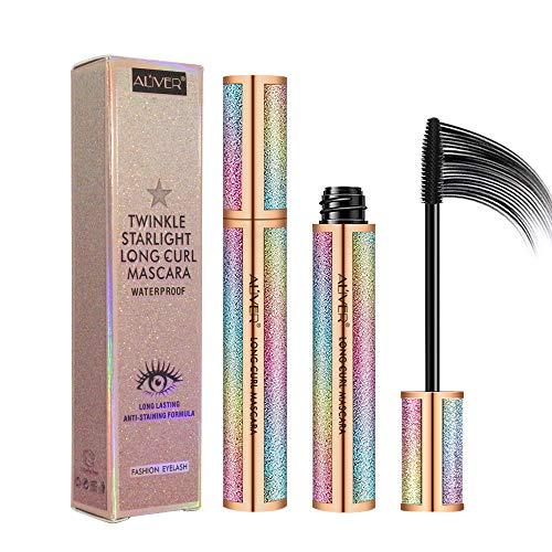 4D Mascara Wasserdicht, Fiber Wimperntusche Mascara Extra Long Lash Verlängerung Eyelash...