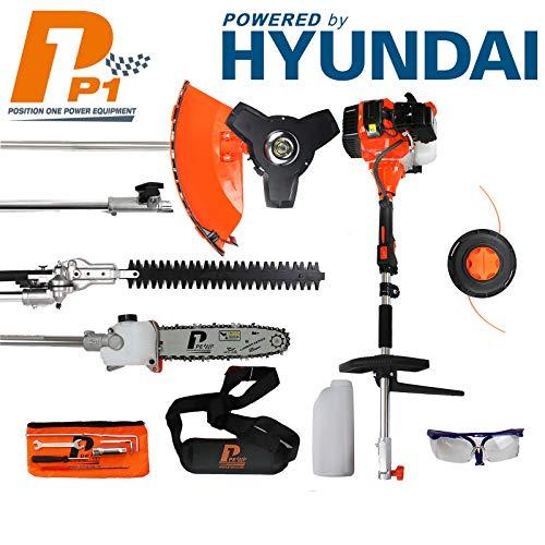 P1PE P5200MT 52cc Petrol Garden Multi Tool inc Hedge Trimmer, Pole Saw, Brush Cutter, Grass Trimmer...