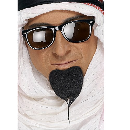 Smiffys Araberbaard zwarte Arabische sjeik baard snoep
