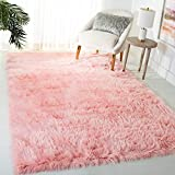 Safavieh Faux Sheep Skin Collection FSS235G Silken Glam 2.35-inch Thick Area Rug, 5' x 7', Pink