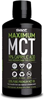 Maximum MCT Oil, 99% C-8 Caprylic Acid Medium Chain Triglycerides for Focus and Energy on Ketogenic and Paleo Diet - 32 Fl oz