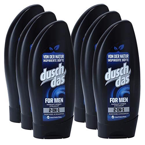 Duschdas Duschgel 250ml for men , 6er Pack (6 x 250 ml)