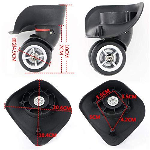 1 ペア スーツケースに使える代用品 交換 ホイール静音 キャスター スーツケースキャリーボックスなどの車輪補修用 取替え 代用品 取替え DIY トラベルバッグラゲッジ修理 交換 (W029 大きい 黒い)
