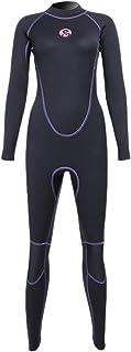 Micosuza Women Full Body Wetsuits Premium 3mm Neoprene UV Protection Back Zip Diving Snorkeling Surfing Swimming Fullsuit ...