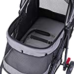 ROODO Escort Pet Stroller Dog and cat pet Three-Wheeled cart - Lightweight, Compact, Portable, Practical, Removable, Change Color (Black special edition) 12