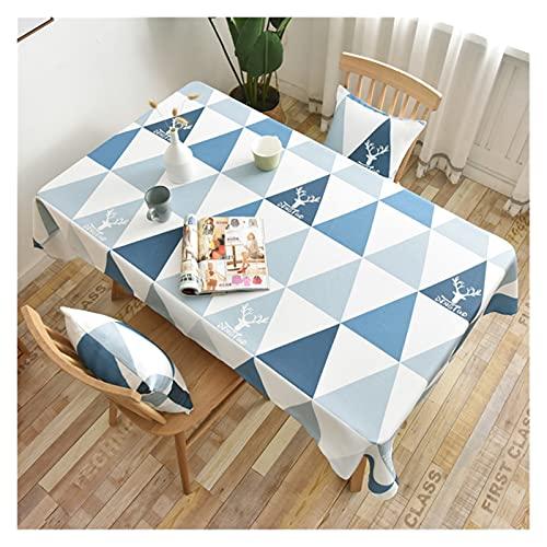 JSJJWSX Mantel de mesa rectangular con estampado impermeable, para decoración de fiestas en el hogar (color: 1, especificación: 135 x 160 cm)