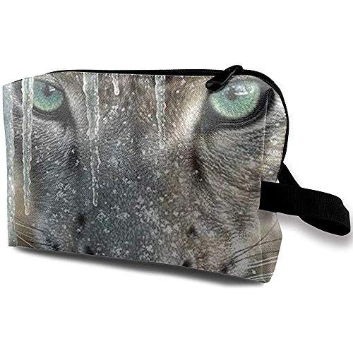 Voyage Cosmetic Bag Portable Sac À Main Snow Leopard Trousse De Toilette Petit Maquillage Sacs Cas Organisateur