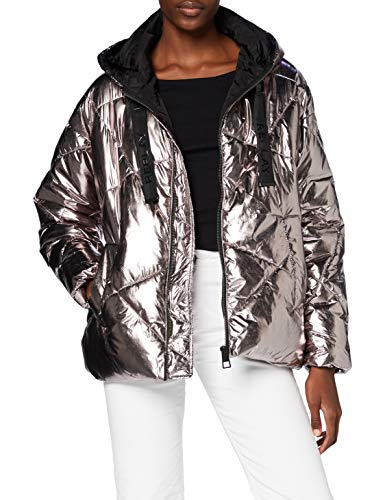 Replay Damen W7609 .000.83850 Jacke, 010 Dark Silver, XL