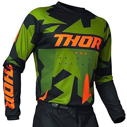 Rosso//Nero Thor MX Maglia da motocross per adulti colore