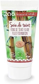Zao Refill Silk Foundation 714 Natural de Beige líquido de maquillaje de Sorrel (bio, Vegan) 111714