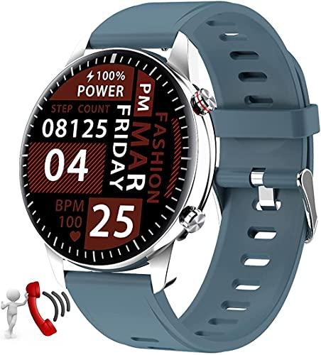 Reloj inteligente 1.3 pulgadas pantalla táctil impermeable reloj deportivo fitness tracker con frecuencia cardíaca y función de seguimiento del sueño compatible con Android LOS-H