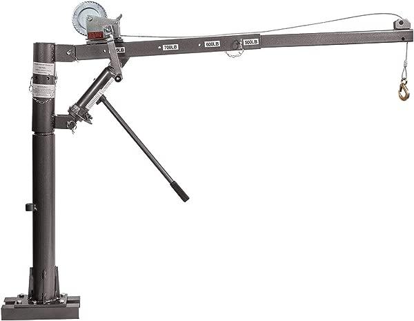 Stark 1 2 Ton Hydraulic Cable Winch Tow Pickup Truck Telescopic Lift Hoist Load Crane 1100lbs Extension Swivel Base