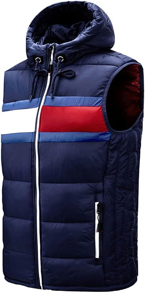 Autumn Winter Men Hooded Vest Sleeveless Coat Thick Comfortable
