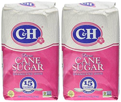 C&H, Cane Sugar, Granulated White, 4 Pound Bag