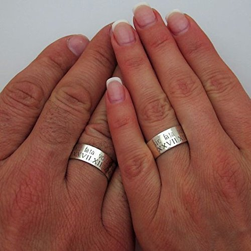 Ideal For Him or For Her Wide Hammered Silver Ring Simple and Unique