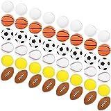 Juvale Mini Foam Sports Balls, Stress Relief Party Favor (6 Pack)