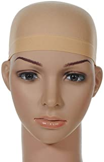 6 PK Beige Stocking Wig Caps Stretchy Cotton Wig Caps Hair Mesh Wigs Hats Beauty Hair Styling Accessories For Women Man