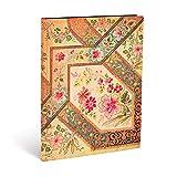 Carnet souple PAPERBLANKS Ligné - Ultra 180×230mm - Flexis série Filigrane Floral Ivoire - 176 pages